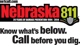 Nebraska 811 - Know what's below. Call before you dig.